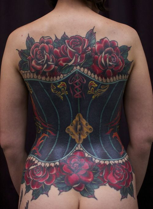 Corset tattoo by Sir Lexi Rex from Spidermonkey Tattoos  Our FB page here: Women with Ink