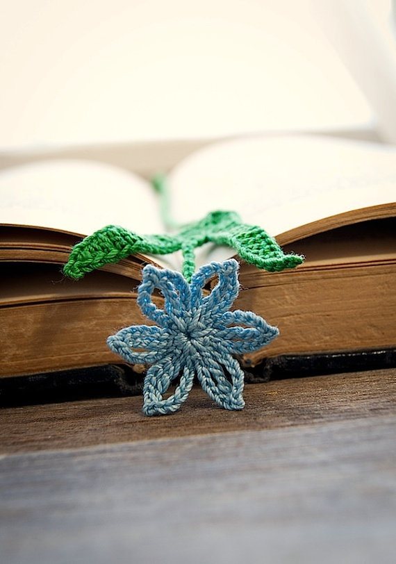 Bookmark Blue Scilla Flower by joyoustreasures