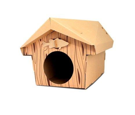 € 24,95 | Leuk kartonnen speelhuisje voor jouw kat. Het huisje heeft aan de achterzijde 3 kijk- of speelgaten. Het huisje wordt geleverd met 4 verschillende ...