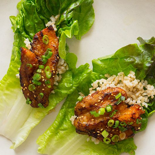 A recipe for Korean Style Spicy Pork Belly that we have made into lettuce wraps.