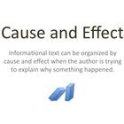 I made this slideshow to introduce my students to the text structure of cause and effect.  The presentation provides a definition of both cause and...