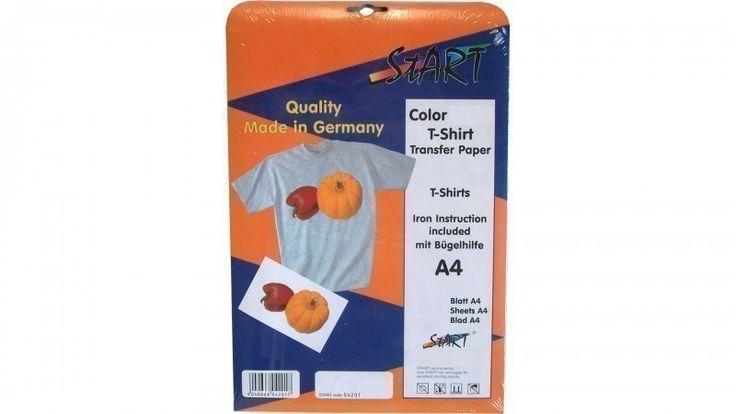 10 Blatt DIN A4 Super T-Shirt Folie für Laserdrucker, speziell für dunkele Stoffe