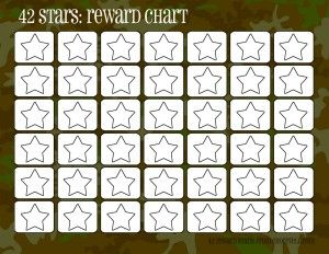 Camo rewards charts (42 stars)