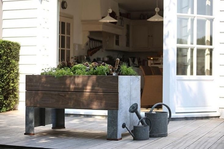 Garden in a box.  Put a single elevated planter box on a small deck—or five in a row in a backyard with lots of space but terrible soil. To kick off our new Gardenista 100 guide to the hundred best outdoor products, here are our favorite elevated planter boxes: