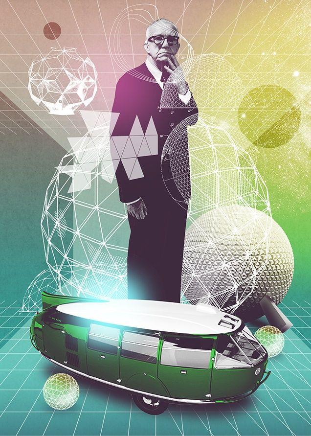 Buckminster Fuller (1895-1985) AR 2014. <:((((><(