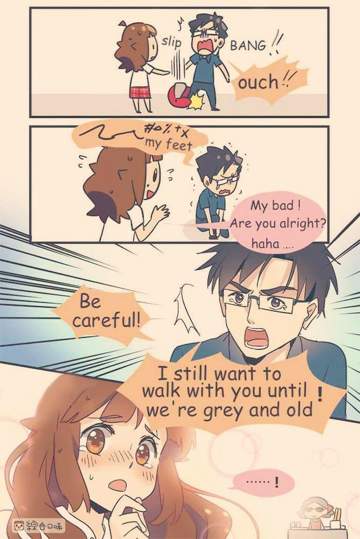 Aww hurt | Relationship comics, Cute love stories, Anime
