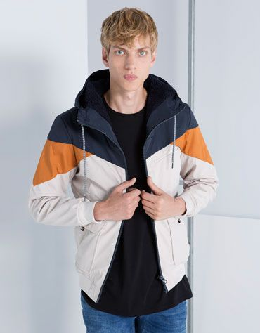 Bershka Japan - Basic tricolour polyester jacket