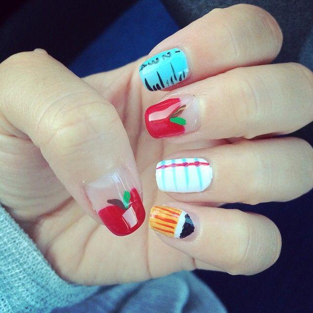 The 25 best teacher nail art ideas on pinterest teacher nails 37 super cute back to school nail art designs prinsesfo Gallery