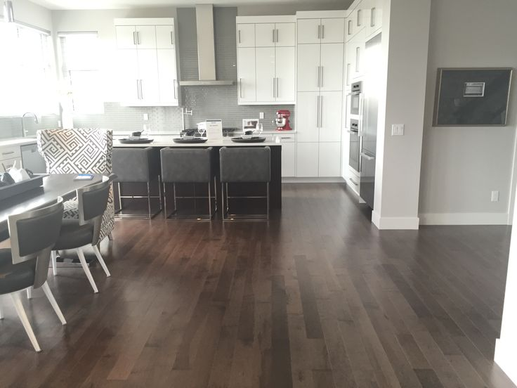 beautiful entry from the cantata showhome featuring smokey grey hard maple hardwood flooring from the - Grey Hardwood Floors