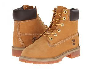 Timberland Kids 6 Premium Waterproof Boot Core (Big Kid) (Wheat Nubuck) Boys Shoes