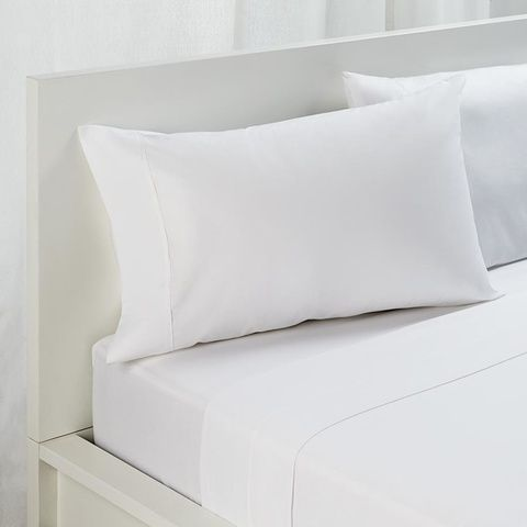 Queen Bed Sheet Set - 225TC, White