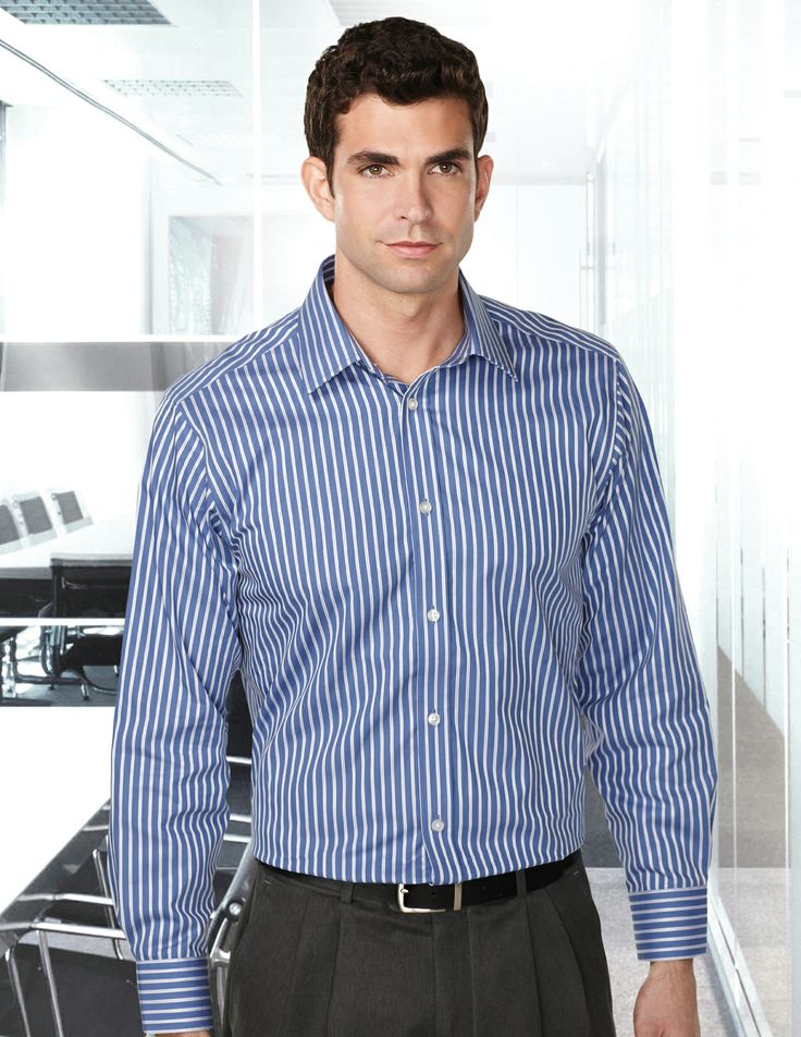 Mens 100% Cotton Y/D L/S Stripe Woven Shirt. http://www.raisingtrend.com/2128/tri-mountain-w970-mens-100-cotton-y-d-l-s-stripe-woven-shirt.html