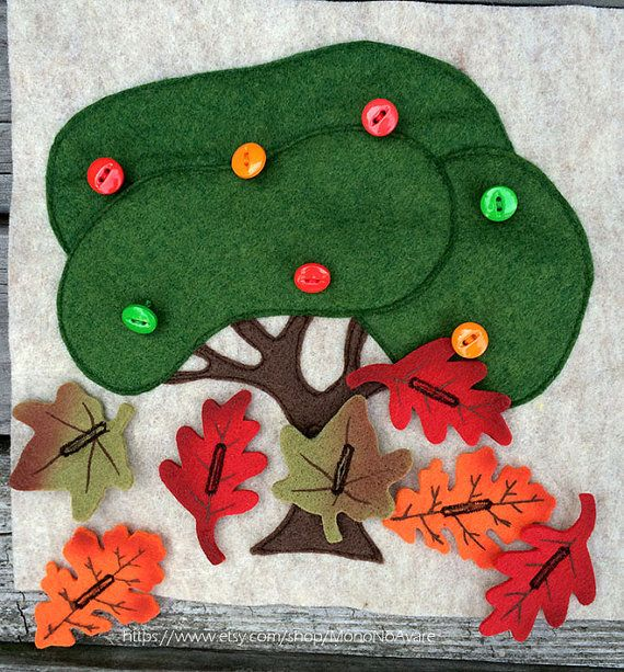 Autumn Tree Leaves Buttoning by MonoNoAvare on Etsy