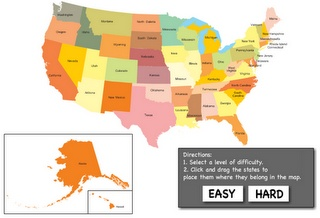 Usa Map Puzzle Abcya Images Hr Code Bulldog Bytes - Us map puzzle game