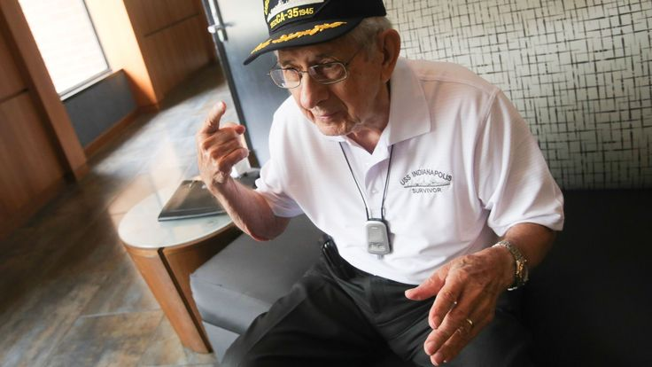 USS Indianapolis survivor: 'That first morning, we had sharks'  Papa wasn't at Pearl Harbor but was at Normandy on D- Day and would have felt this important. V~