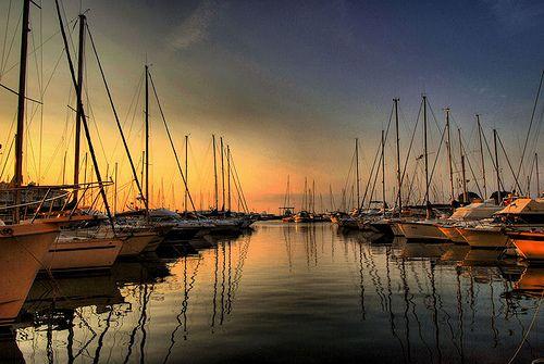Early Morning at Port Frejus, France. Photo by: Antonio Rino Gastaldi.