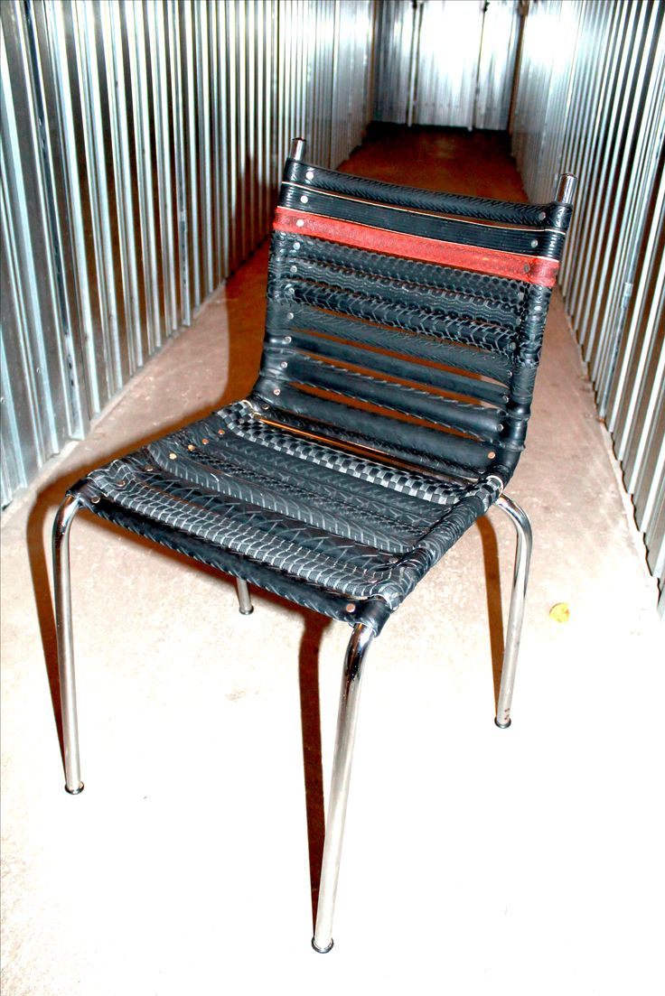 Bicycle Tire Chair made of re-used bike tires!