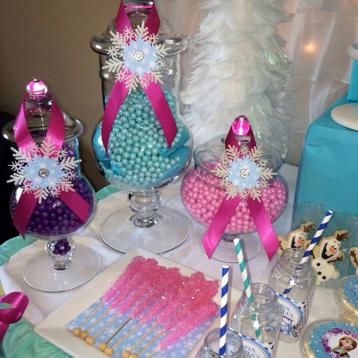 Birthday Party Buffet Table: 25+ Best Ideas About Frozen Candy Buffet On Pinterest