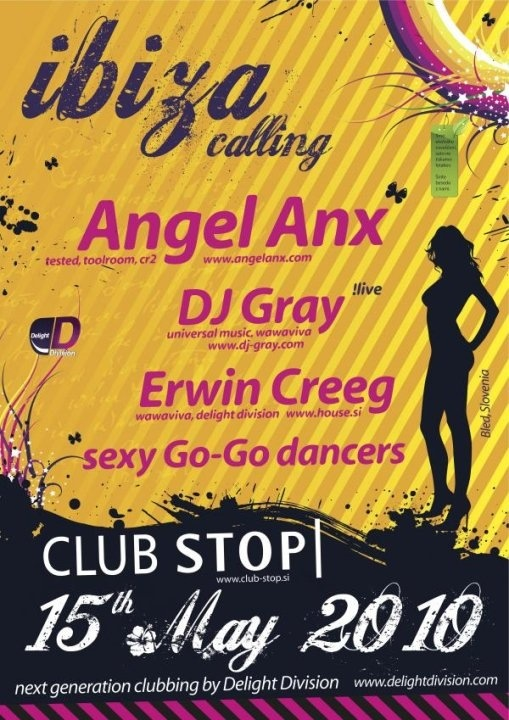 Delight Division Party with Angel Anx, DJ Gray, Erwin Creeg / 25.5.2010