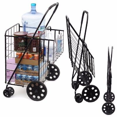 Beautiful Expandable Cart On Wheels