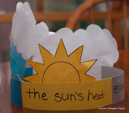 Water Cycle crown and cute song to sing