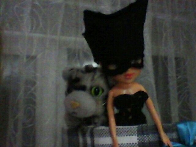 костюм женщины кошки для куклы