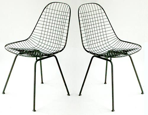 A Pair Of Iconic Mid Century Modern Chairs By Ray And Charles Eames. The