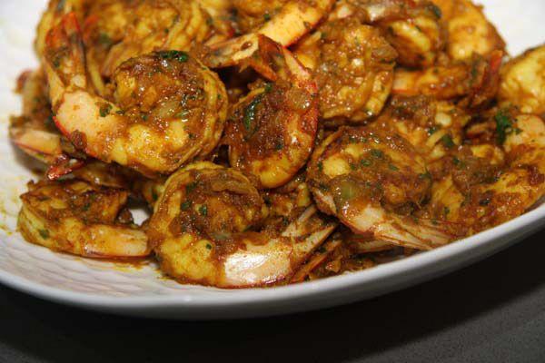 chermoula prawns, yummy spiced prawns.....