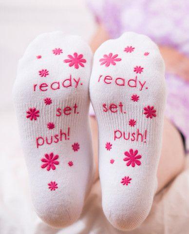 labor socks non skid pink – Baby Be Mine