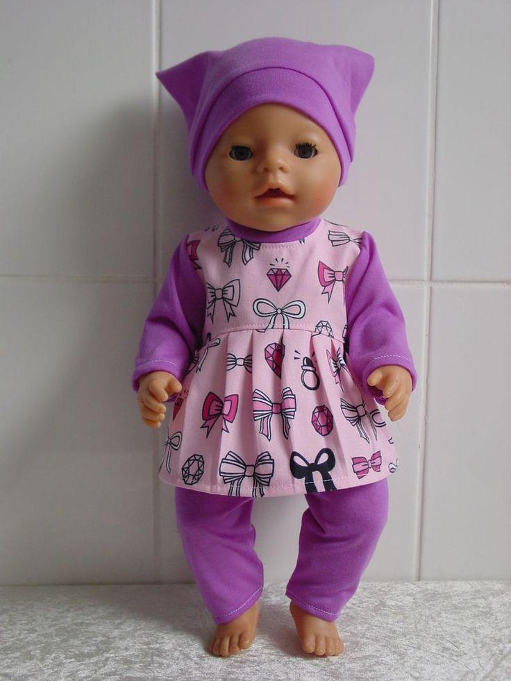 Puppenkleidung Herbst/Winter Set 3tlg f. z.B. BABY BORN o.a. 42-44cm Puppen**NEU