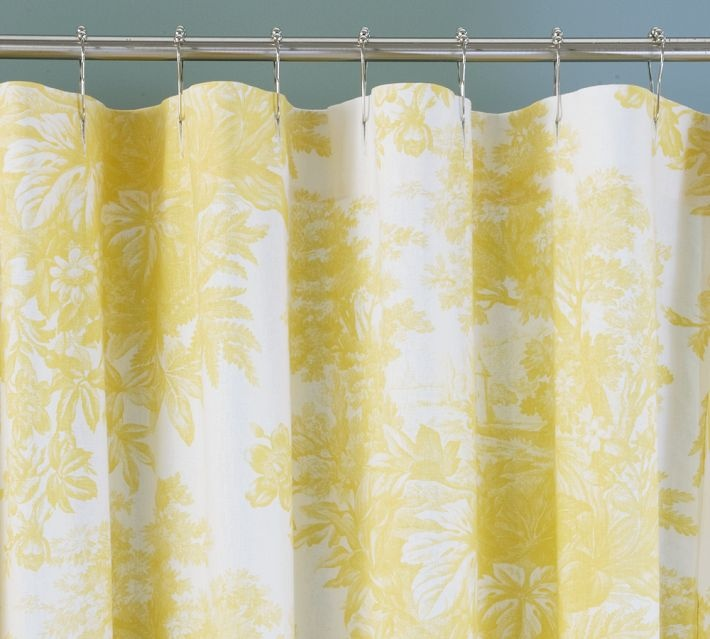 Pottery Barn Yellow Shower Curtain