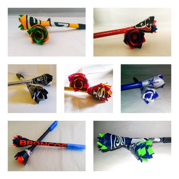 NFL Pens - Show your love for your team! #NFL #Packers #Niners #Seahawks #Packers #Raiders #Texans #Cowboys #Broncos