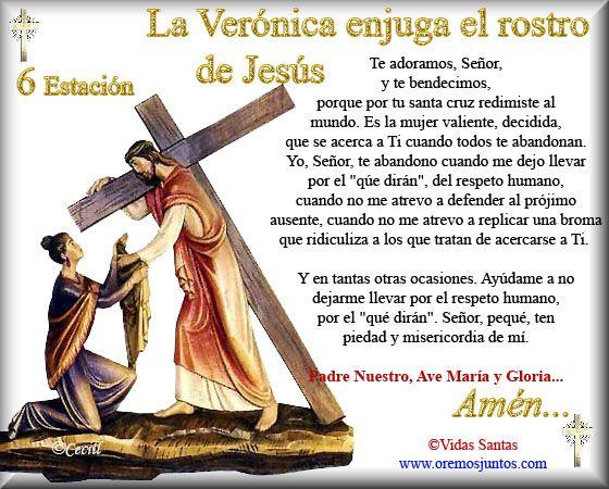Imágenes de Cecill: Estaciones del Via Crucis † 6- La Verónica enjuga el rostro de Jesús