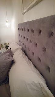 Förra helgen gjorde jag en stoppad huvudgavel till min nya säng från Carpe Diem. Vadderade sänggavlar är svindyra och jag var båd...