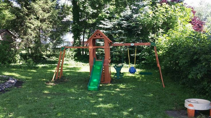 backyard discovery sonora playset from walmart installed in