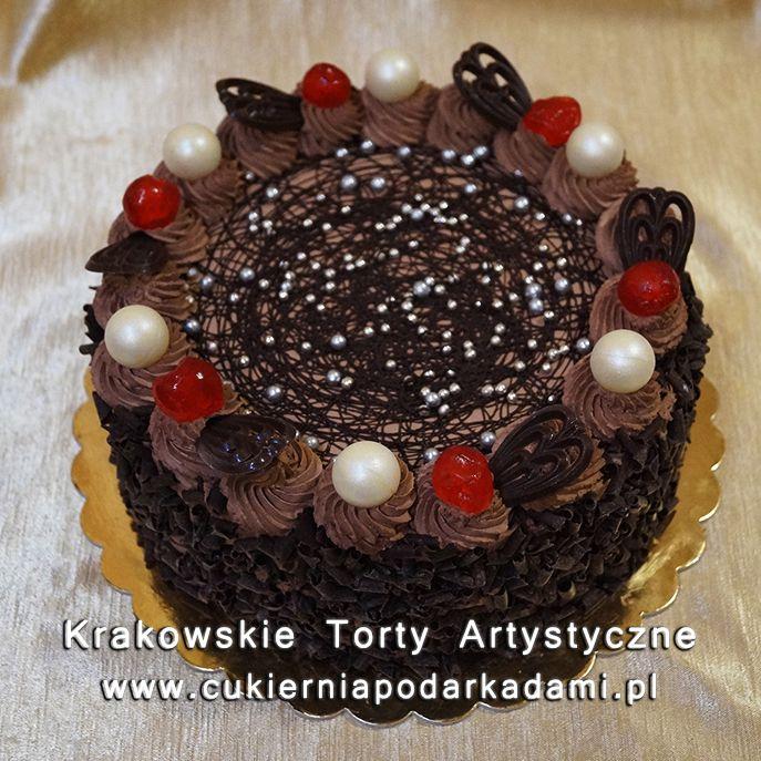 075. Tort z ciemnej czekolady. Dark chocolate cake.