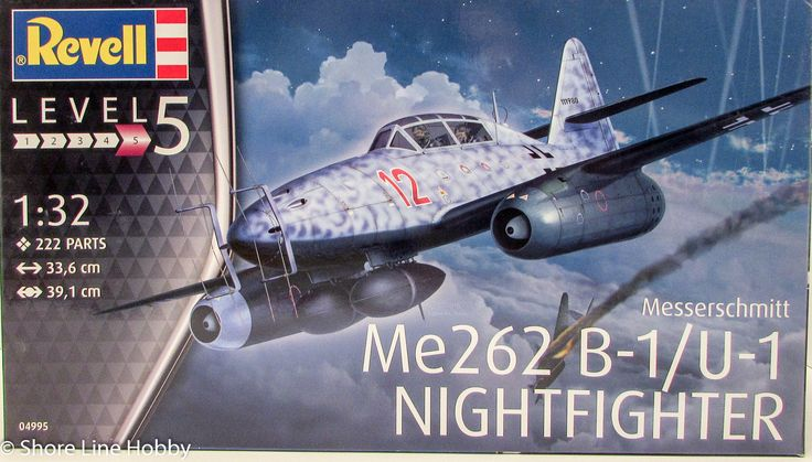 Revell Me262 B-1/U-1 Nightfighter 04995 1/32 New Plastic Model Airplane Kit