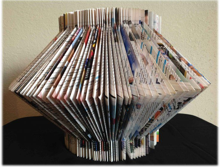 A nice way to decorate your old magazines on table tops. You just need to fold the magazines papers. No paper cutting at all. You can also use it as a vase by putting a few flower sticks in the center. Lets see how to make it. It is really simple, quick and fun way to keep your kids busy.