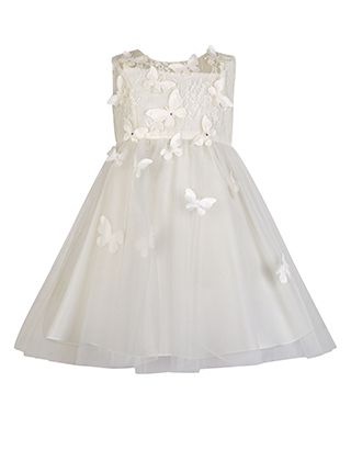 Baby Ruby Butterfly Dress | Ivory | Monsoon