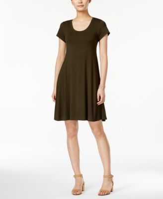 Style & Co. Short-Sleeve A-Line Dress, Only at Macy's