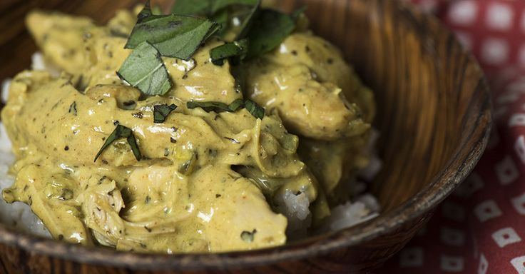 Slow Cooker Basil Chicken And Coconut Curry