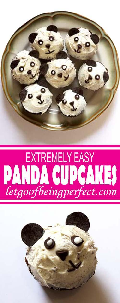 Make these adorable panda cupcakes. Really easy dessert recipe using common stuff you can buy at the grocery store. No baking skills required! Great for kid parties, panda-themed events, or school functions. Child-friendly recipe, too, great to get children cooking and baking, all while make cute food that makes them excited to bake. Explore the web site for more cooking and recipe tutorials with good, clear photos and instructions. It's pandamonium over here at…