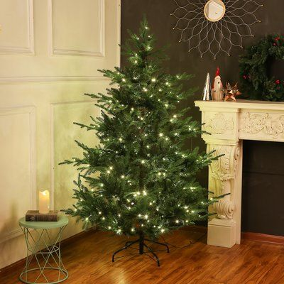 6' Pine Artificial Christmas Tree with 350 Clear/White Lights
