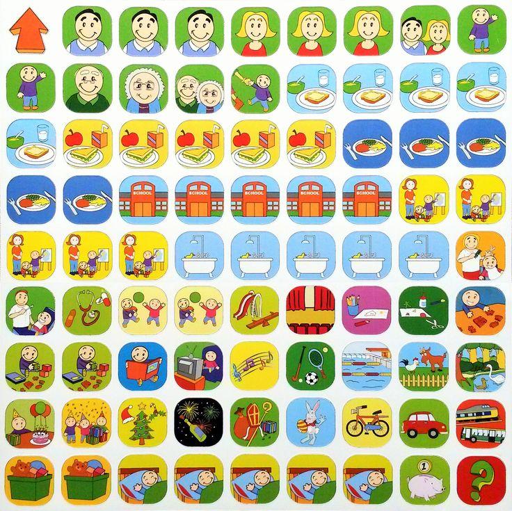 De uitgebreide basisset, met 81 kleurrijke pictogrammen