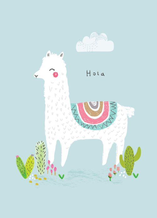 Aless Baylis for Petite Louise, Hola Llama Print | Illustration & Patterns