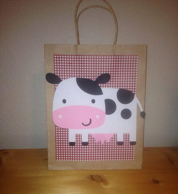 Conjunto de 5 grandes favor botín bolsas moña por pinktreepapers