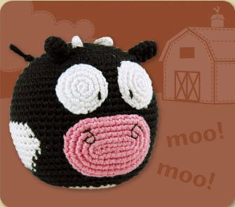 Dandelion - Organic Handcrafted Roly Poly - Cow - Hugs For Kids