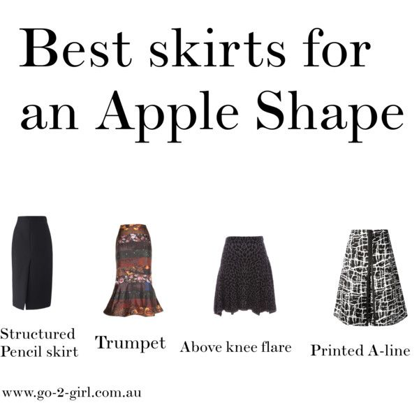 """""""Best skirts for an Apple Shape"""" by go-2-girl on Polyvore"""