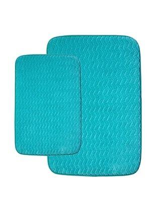 70% OFF Memory Foam Bath Mat Set, Aqua