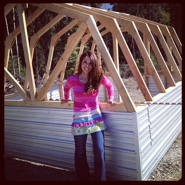 Ana White's free plans for building a Barn Greenhouse